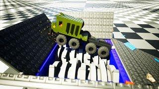 Mini Shredder Shredding Lego Vehicle   Brick Rigs