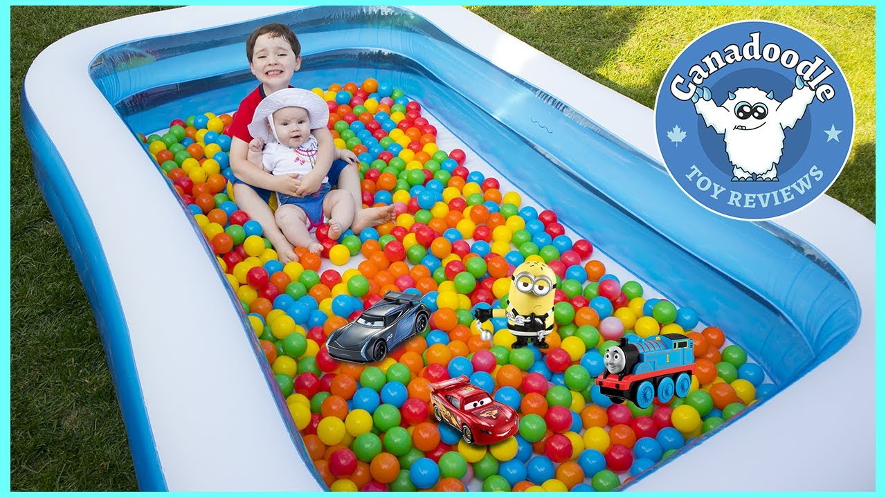 Giant Ball Pit Toys Surprise Challenge In Pool Disney