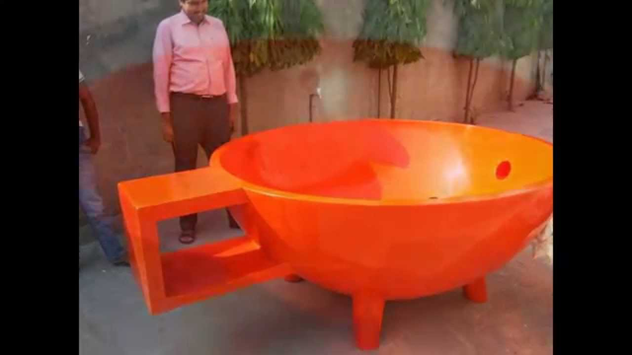 Hot Bath Tub with Heating Coil - YouTube