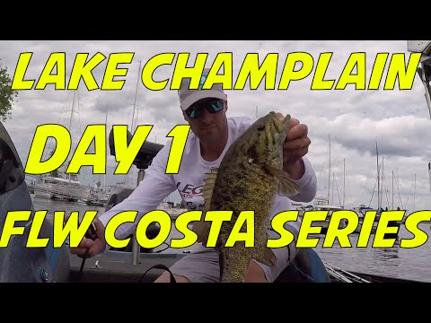 FLW Costa Series Day 1 on Lake Champlain!
