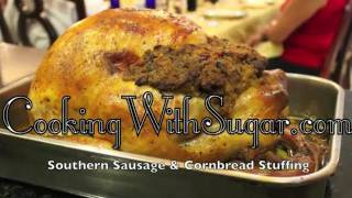 Thanksgiving Turkey Stuffing - Southern Sausage Cornbread Stuffing Recipe