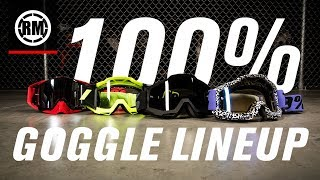 100% Motocross Goggle Lineup
