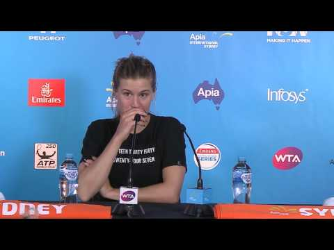 Genie Bouchard, after the loss to Konta in Sydney