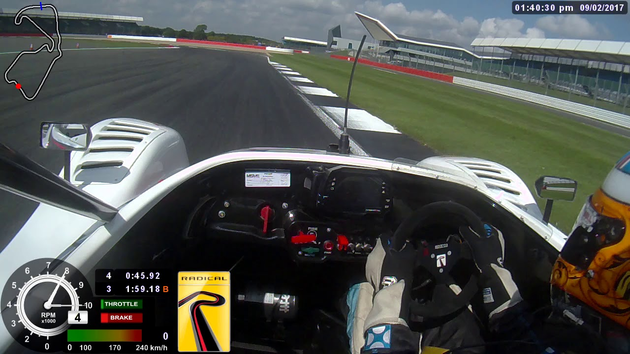 Radical SR8 Silverstone GP Lap Record with Scott Mansell