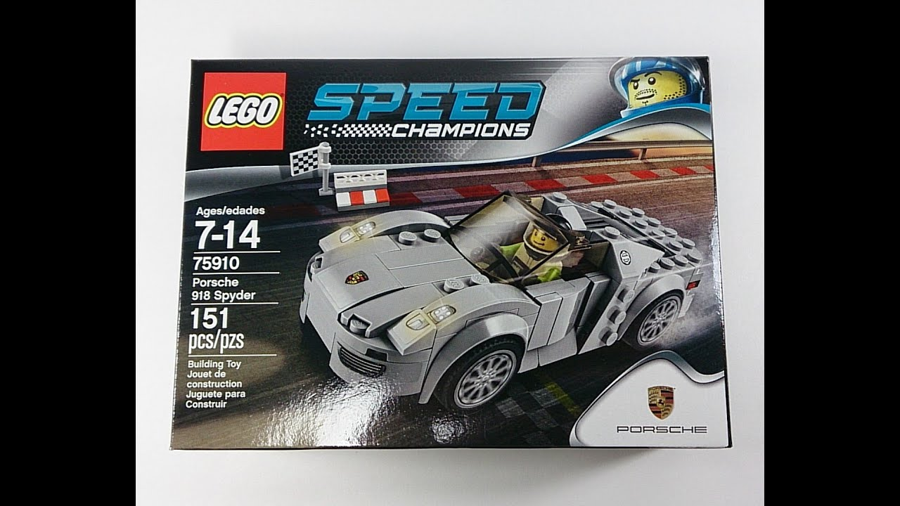 lego speed champions porsche 918 spyder review set 75910 youtube. Black Bedroom Furniture Sets. Home Design Ideas