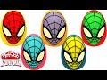 Aprende los Colores con 5 Huevos Sorpresas de Spider Man en Español de Plastilina Playdoh