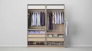 Ikea pax schiebetüren holz  PAX Kleiderschranksystem - Kombination mit Türen - IKEA