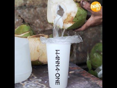 How to drink Buko Juice K-pop Style
