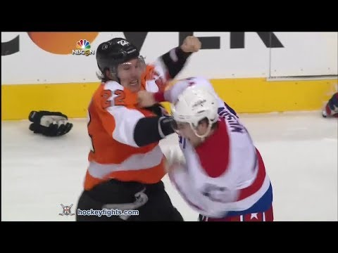 Tom Wilson vs Luke Schenn & John Erskine vs Vincent Lecavalier Mar 5, 2014