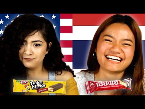 Americans & Thai People Swap Snacks