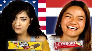 Americans & Thai People Swap Snacks
