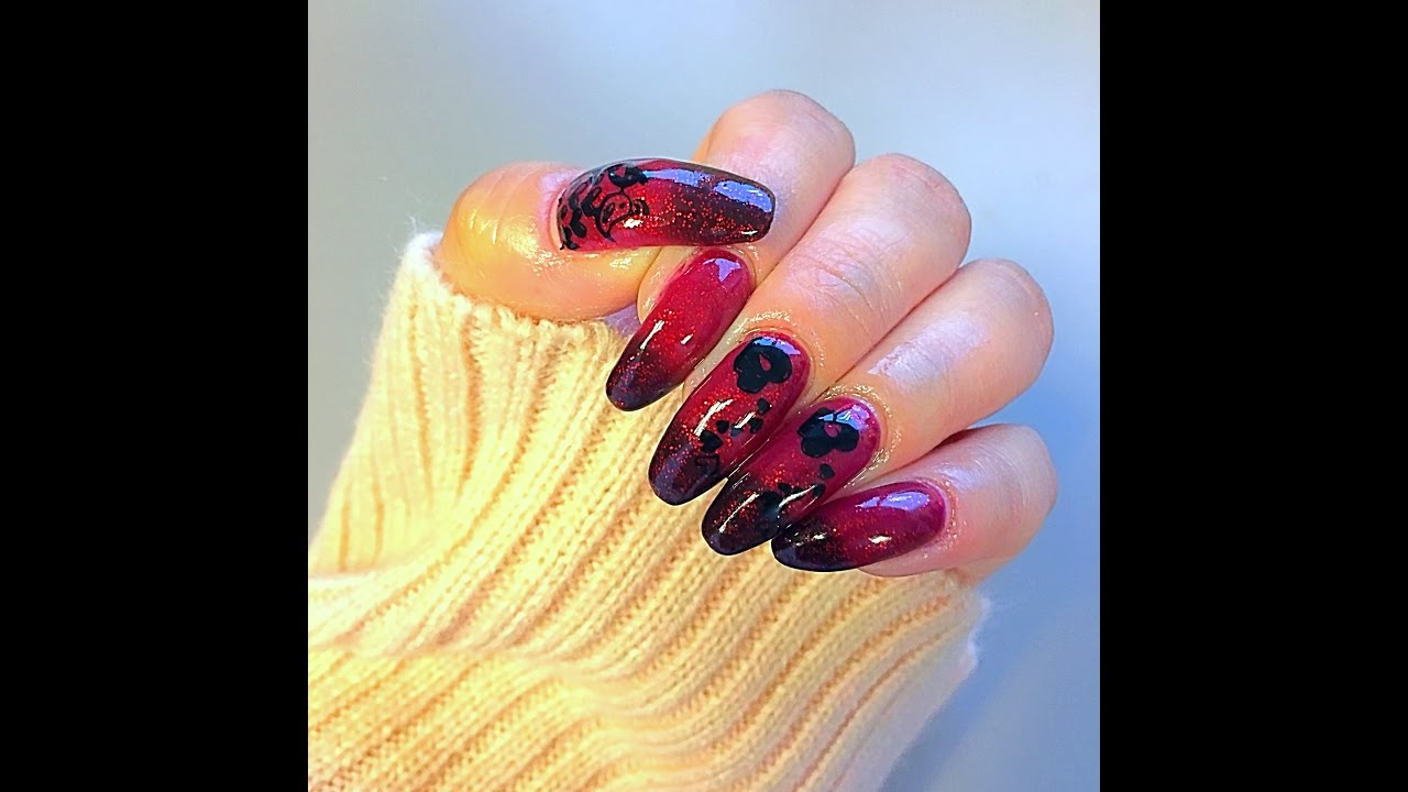 Valentines Nail Design - Using Kiara Sky color changing gel polish ...