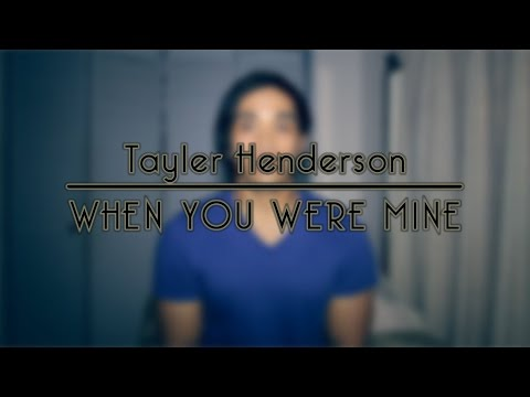 """Me Singing  """"When You Were Mine"""" by Taylor Henderson - cover by: Ron Robang"""