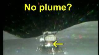 Moon hoax? No ascent plume?