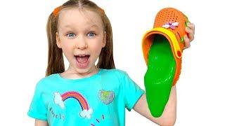 Лиза и папа - весёлые соревнования и шутки с игрушками