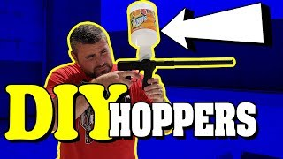 Homemade, DIY Paintball Hoppers | Do It Yourself Gravity Feed Loaders| Lone Wolf Paintball Michigan