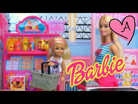 Supermercado de Barbie - Jugando con juguetes de Barbie