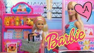 Jugando con el supermercado de Barbie | Muñecas y juguetes con Andre para niñas y niños
