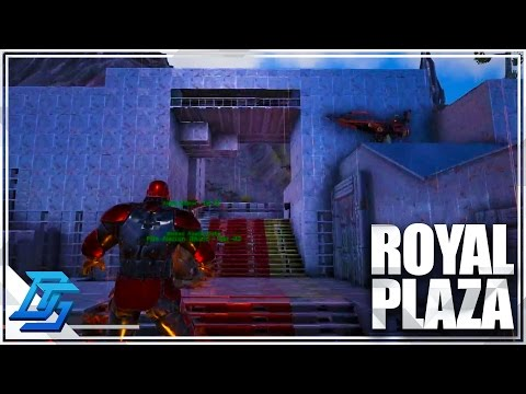 Fire Nation Royal Plaza , Defensive Wall Montage - Ark Survival Evolved (Stream Edition)