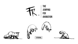 Traditional animation - How to draw a jumping fox
