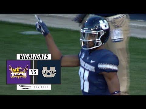 Tennessee Tech vs Utah State Football Highlights (2018) | Stadium