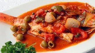 Receta para preparar huachinango a la veracruzana. Receta de huachinango / Cuaresma