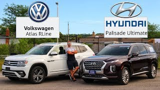 2020 Hyundai Palisade Ultimate VS VW Atlas EL RLine | See What They Offer | 3Row Seater Comparison