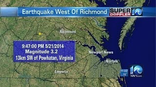 Earthquake reported west of Richmond
