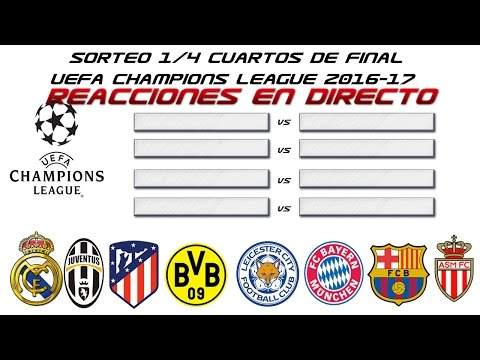SORTEO 1/4 CUARTOS DE FINAL UEFA CHAMPIONS LEAGUE 2016-17 |
