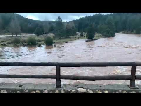 Un río Lobos, desbordante