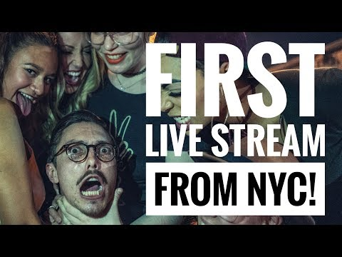 FIRST LIVE STREAM FROM NYC!