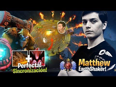 Matthew - Perfecto! Earthshaker Roaming! - Concentración y Combos al limite!  - Dota Gameplay