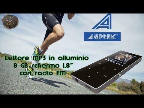 🎬REVIEW►AGPTek Lettore MP3 B05 in ALLUMINIO (ITA)