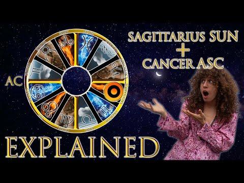 ☉ Sun in Sagittarius + Cancer Asc (rising sign) HD