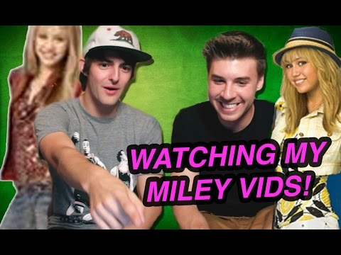 REACTING TO MY MILEY VIDEOS! (DAVE DAYS & IAMCHRISC)