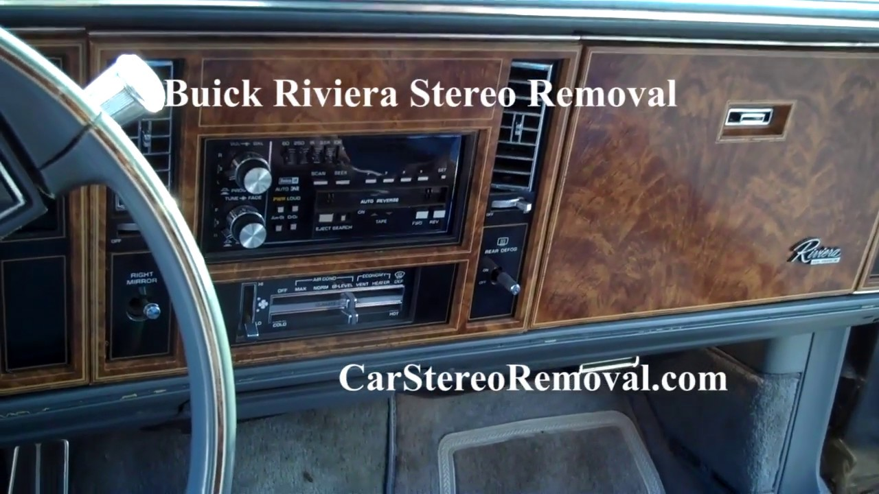 Buick Riviera Stereo Removal on