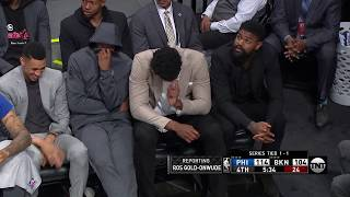 Someone FARTS On The Philadelphia Sixers Bench!