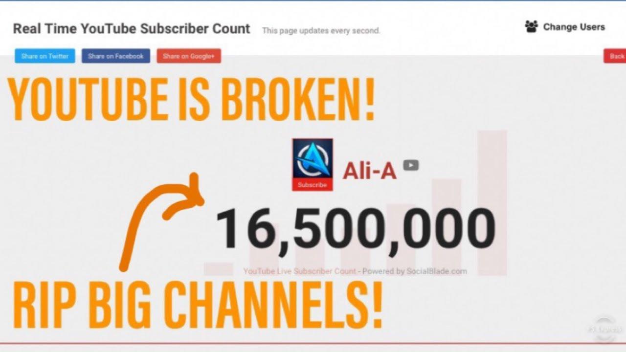 Youtube Broke Itself Rip Live Sub Counts Rip Big Channels