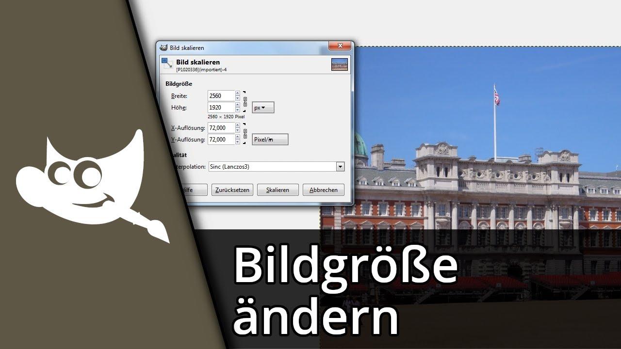 Gimp 2.8 Tutorial   Ebenen/Bildgröße ändern [Deutsch/HD] - YouTube