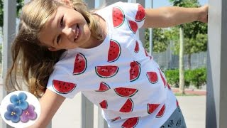 Pintura en tela: Camisetas Personalizadas Sandia RE FACIL DIY moda 2015 Pintura Facil