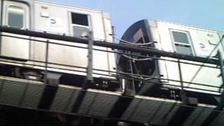 R160B siemens Q train Departs Ditmars Blvd to Manhattan & Brooklyn