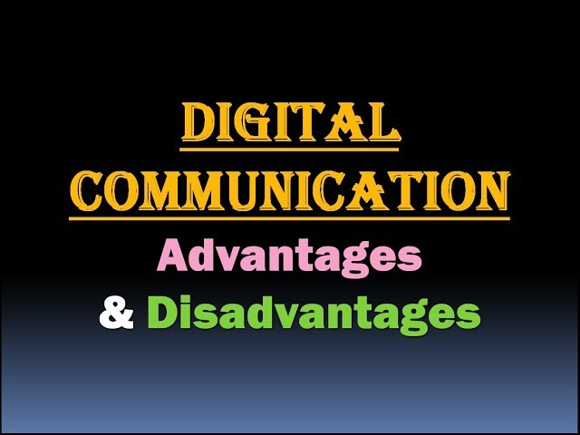 digital nation the advantages disadvantages of technology Advantages and disadvantages of more and more schools in developing nations are teaching their students advantages and disadvantages of technology in.