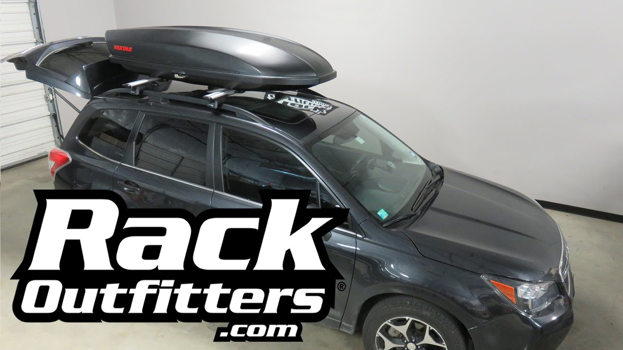 Subaru Forester With Yakima Skybox Carbonite 16 Cargo Box