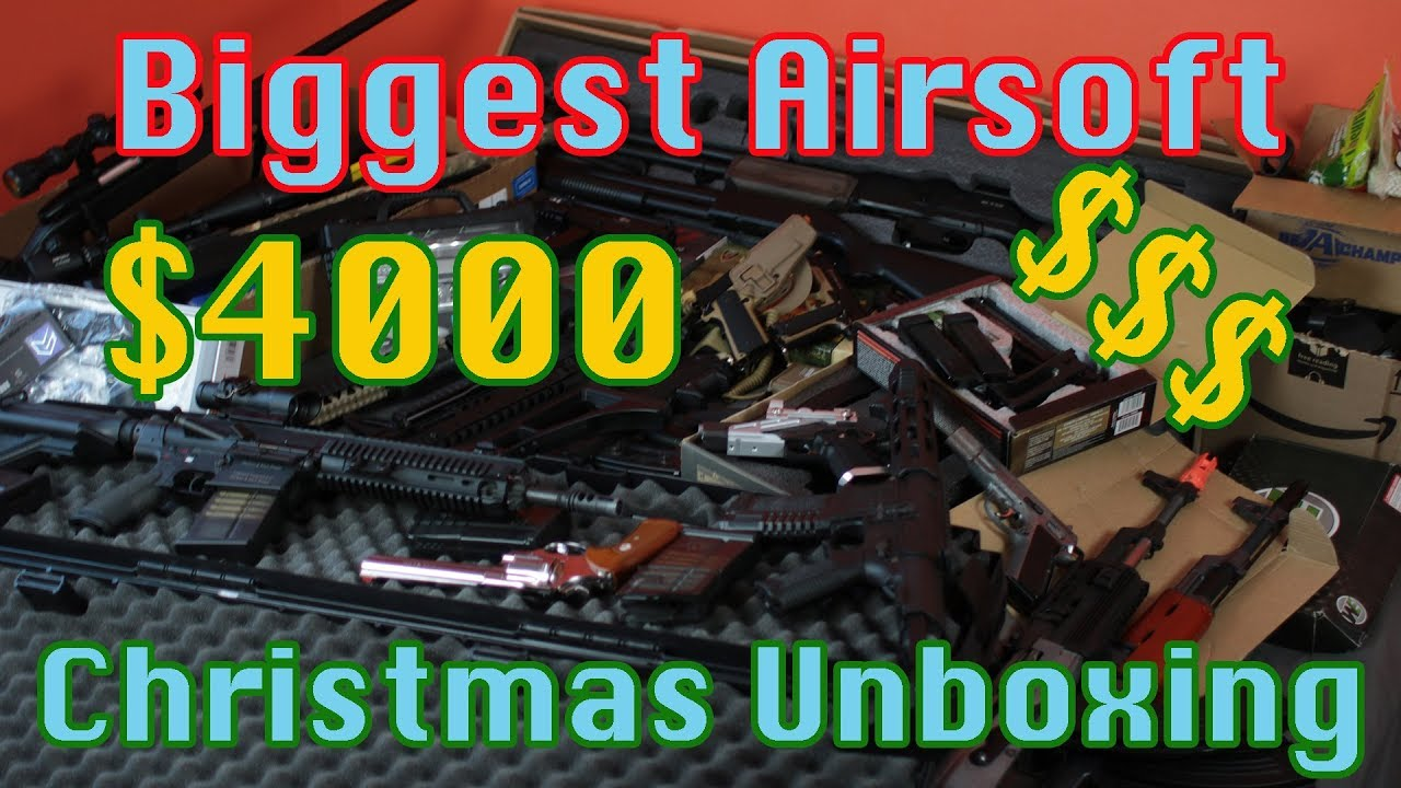 Biggest Airsoft Unboxing $4000 Christmas Unboxing (Part 1)