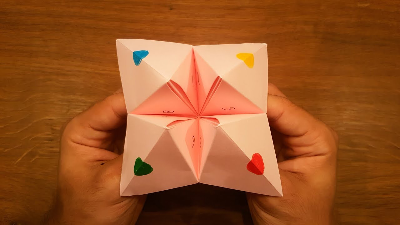 How To Make a Paper Fortune Teller - EASY Origami