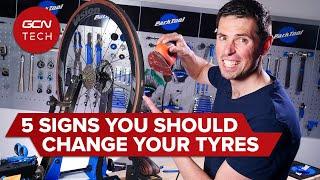 자전거 타이어를 바꾸는 데 필요한 5 가지 신호
