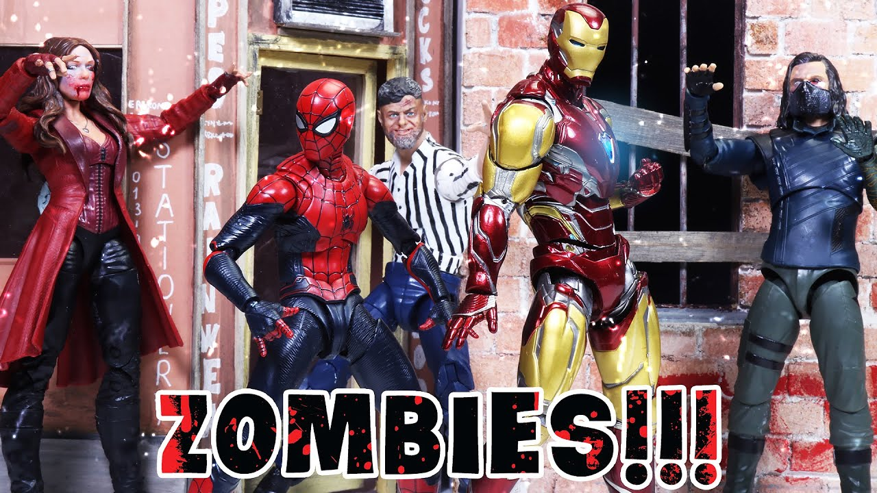 MARVEL'S AVENGERS Attacked by Zombies | Figure Stopmotion