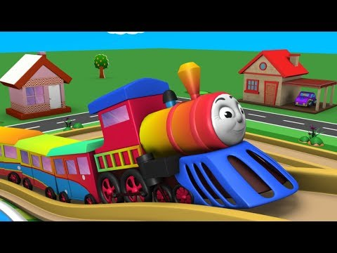 Cartoon Train for Children - Toy Factory Trains - Videos for Kids - Police Cartoon - Toy Train Video
