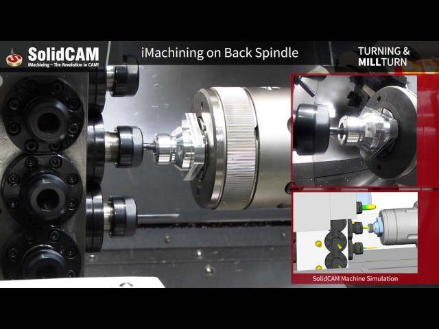 SolidCAM Mill-Turn & iMachining on QuickTech T8 Hybrid