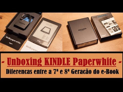 Kindle Paperwhite Unboxing & Initial Settings - Differences from the 7th and 8th Gen of the e-Book